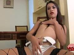 Horny Poen Jacks Her Hard Cock!