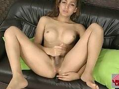 Horny Asian T-Girl Jerks And Toys Her Ass 3