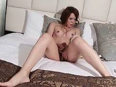 Cute TS Manami Cyojyo Plays With Her Dick 2