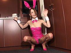 Naughty Tgirl Bunny Mai!